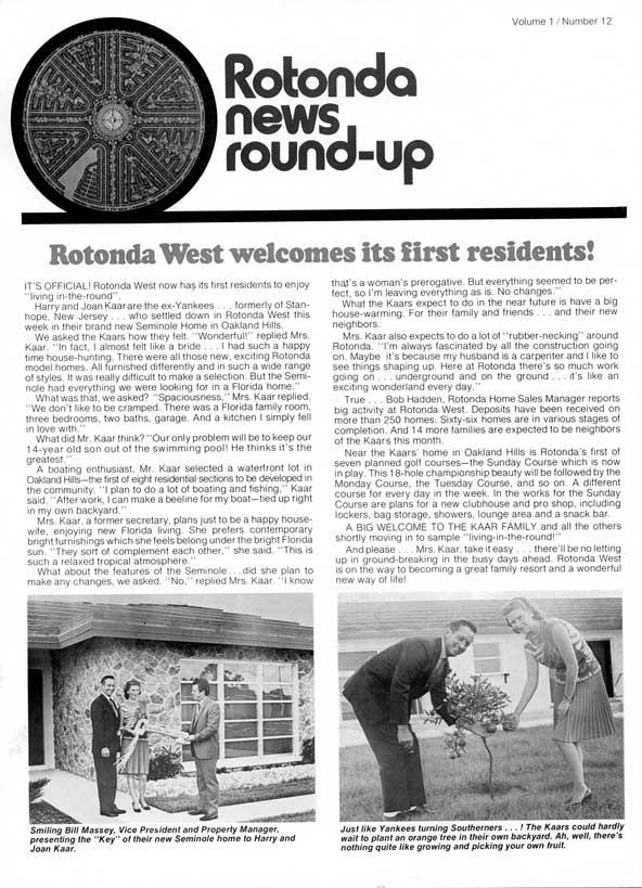 Oil, Taxes and Scrub Jays Retard Rotonda West's Early Growth