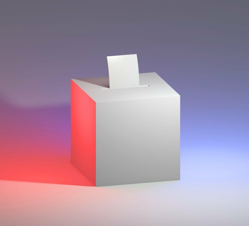 Blue Ballot: two action items to vote on
